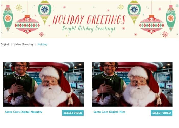 Santa Goes Digital-Naughty video and Nice Video