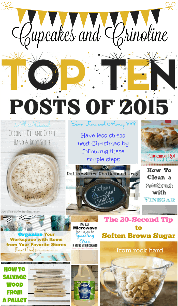 Top Ten Posts of 2015 at Cupcakes and Crinoline
