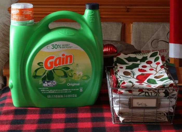 Wash table linens and napkins before the holiday crunch to save time
