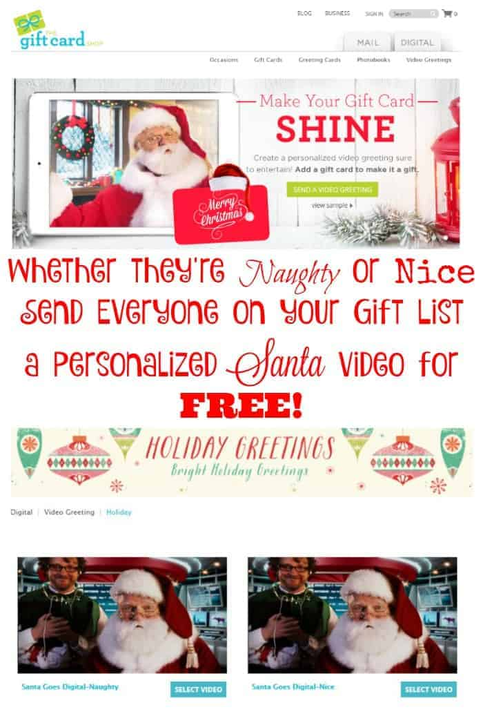 Whether they're naughty or nice send everyone on your list a personalized Santa video for free! #eHolidays