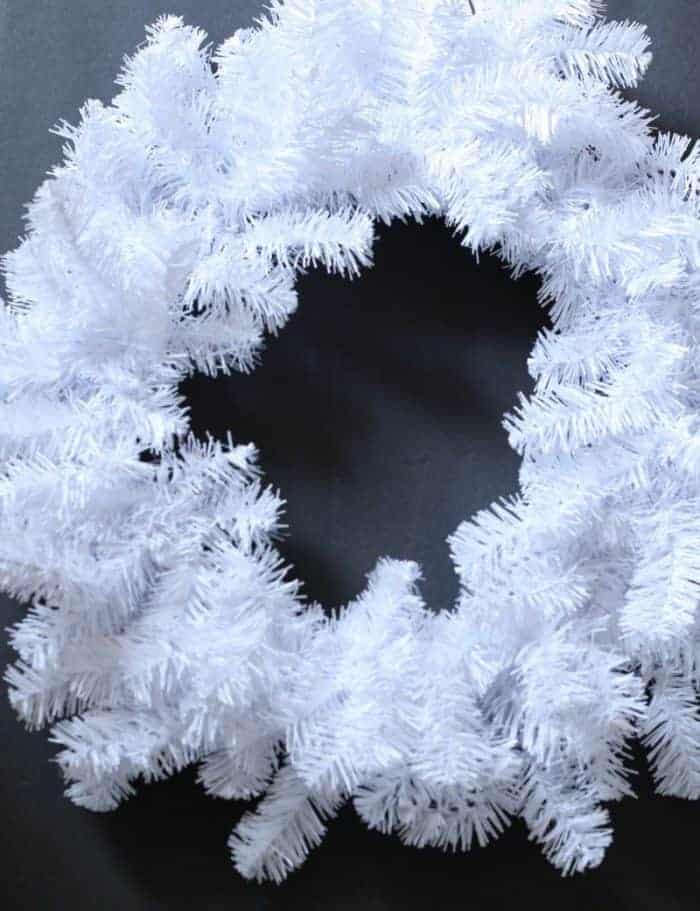 White Christmas Wreath from Michaels Stores at cupcakesandcrinoline.com