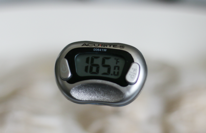 Bake to internal temperature of 165 degrees