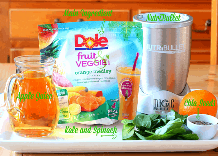 Dole Fruit & Veggie Blends Orange Medley
