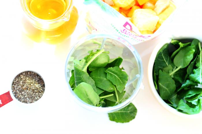 Kale and Spinach Orange Blast Smoothie