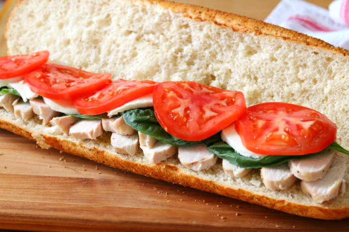 Make ahead chicken hoagie layer four #deliciousgametime