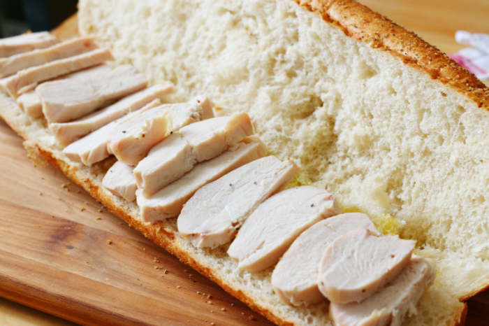 Make ahead chicken hoagie layer one #deliciousgametime