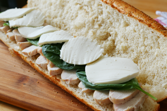 Make ahead chicken hoagie layer two and three #deliciousgametime