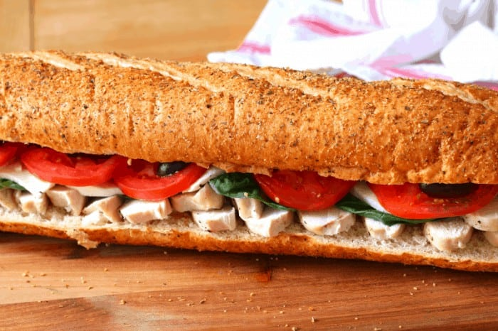 Make ahead chicken hoagie - ready for eating! #deliciousgametime