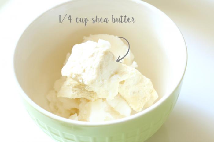 Creamy all-natural body butter 14 cup shea butter - cupcakesandcrinoline.com