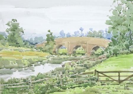 Cynthia Weber Bridge Near the Bodiam Castle