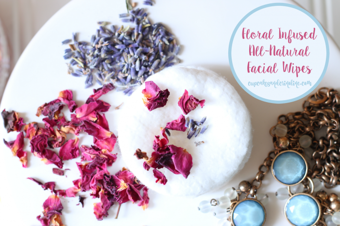 Floral Infused All-Natural Facial Wipes at cupcakesandcrinoline.com