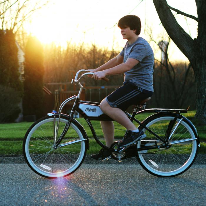 Jordan on bike