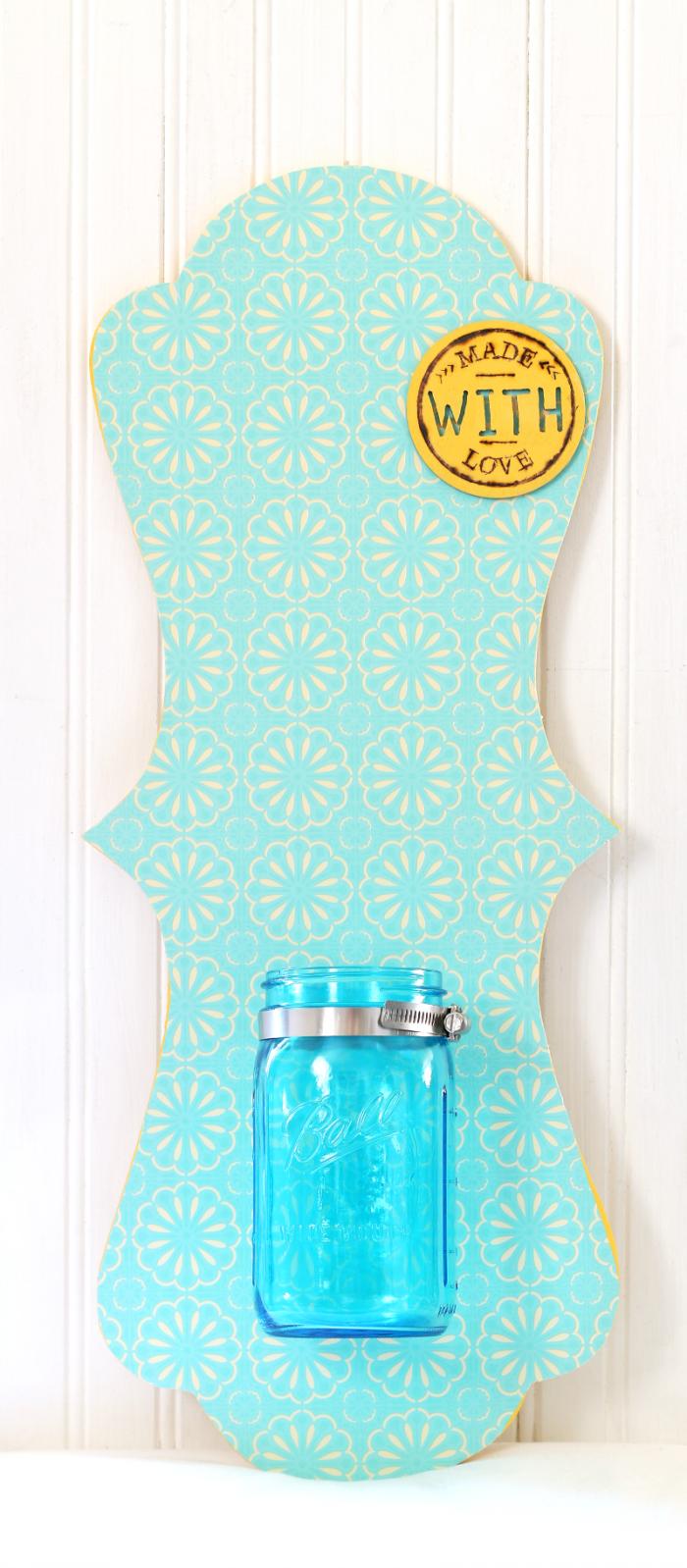 Mason Jar Wall Hanging without flowers