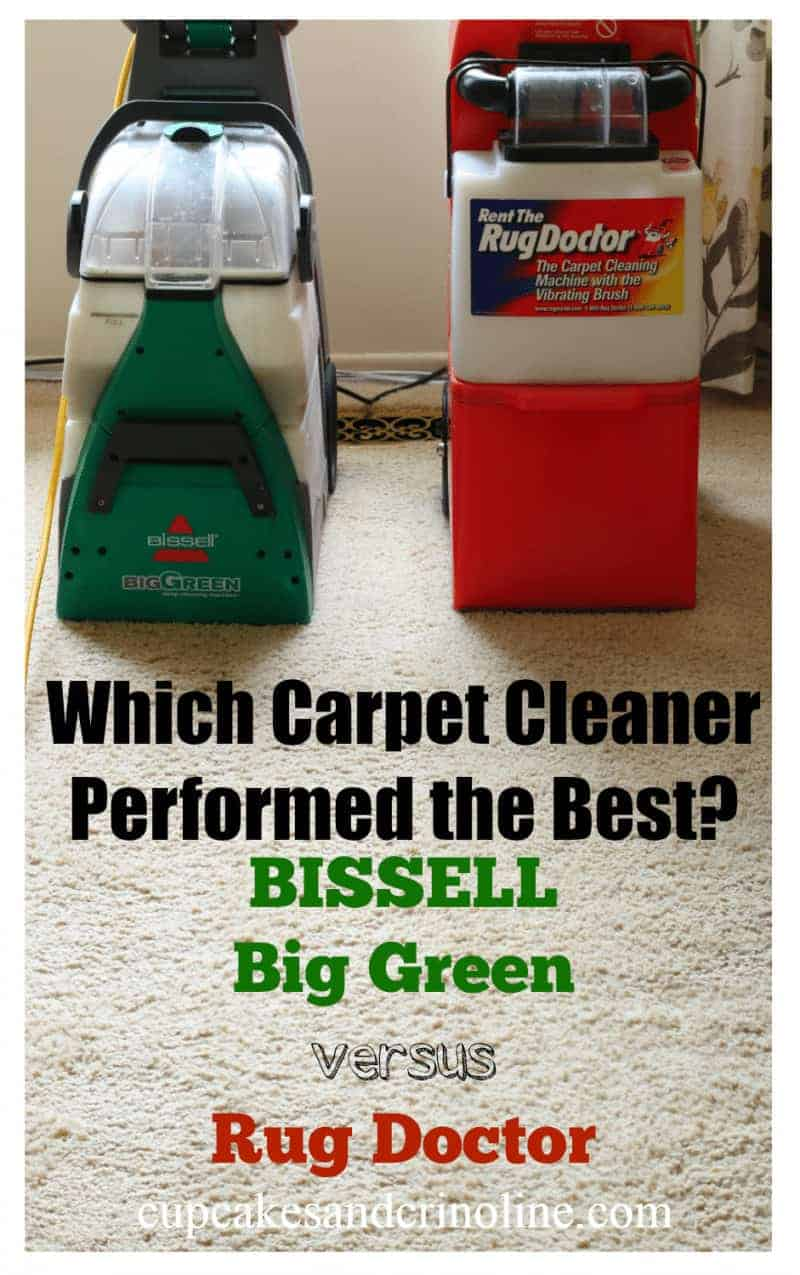 In a side by side comparison, which carpet cleaner performed the best BISSELL Big Green versus Rug Doctor. Get the results at cupcakesandcrinoline.com