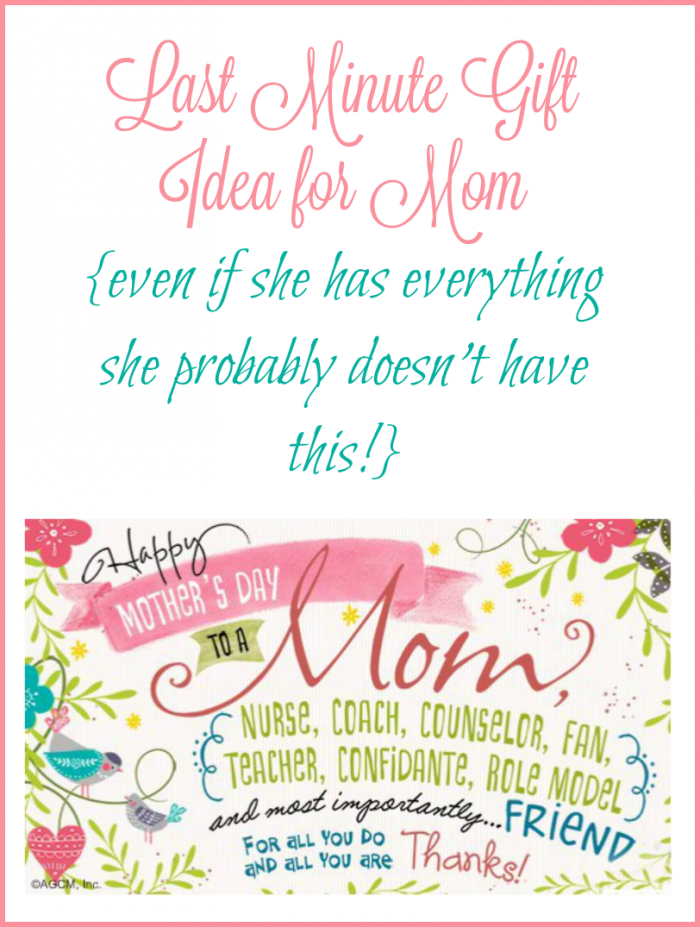 Last Minute Gift Idea for Mom
