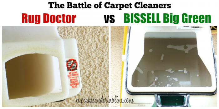 The battle of carpet cleaners Rug Doctor versus BISSELL Big Green - get the results at cupcakesandcrinoline.com