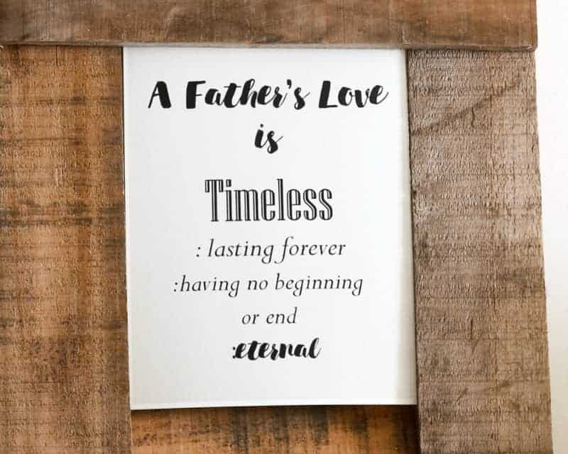 Love is Timeless – Father's Day Gift Idea