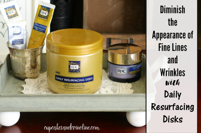 Diminish the appearance of fine lines and wrinkles with Daily Resurfacing Disks - celebrate your true beauty #WomenWhoRoc #sponsored