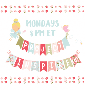 Join the Project Inspired Link Party Mondays 8 PM ET at cupcakesandcrinoline.com