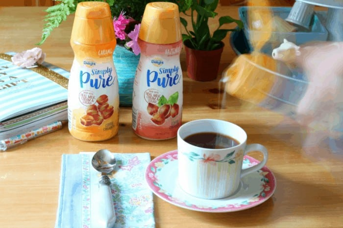 Add just a touch of pure creamer to your coffee for the perfect flavor.