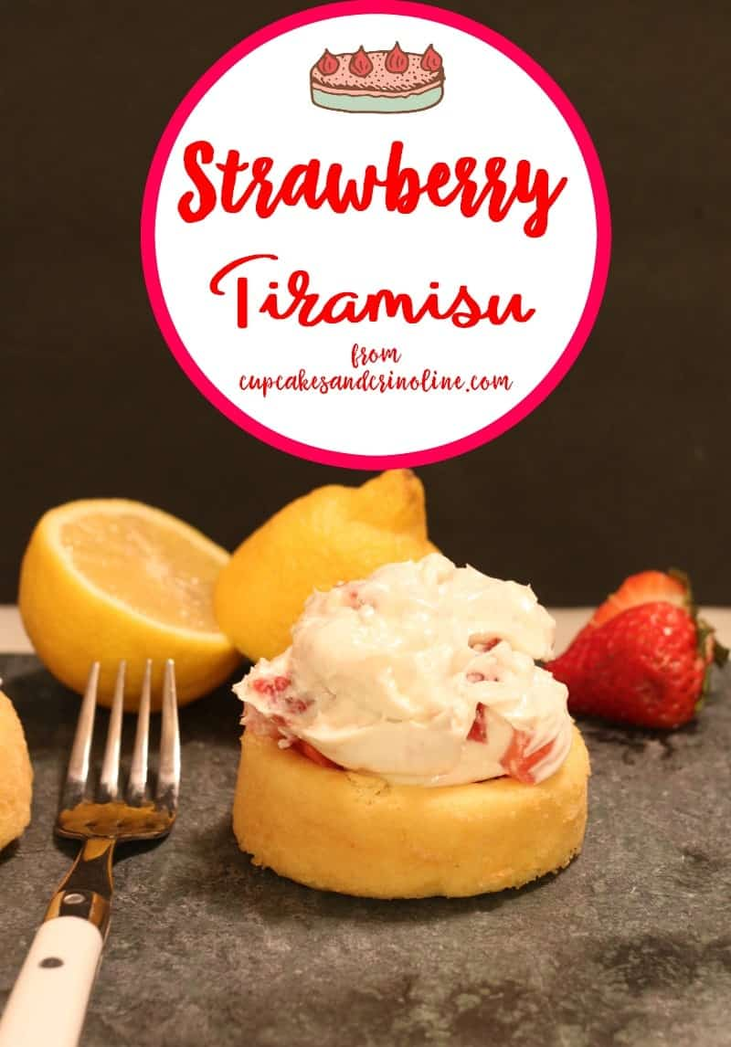 Easy to make Strawberry Tiramisu Cake from cupcakesandcrinoline.com