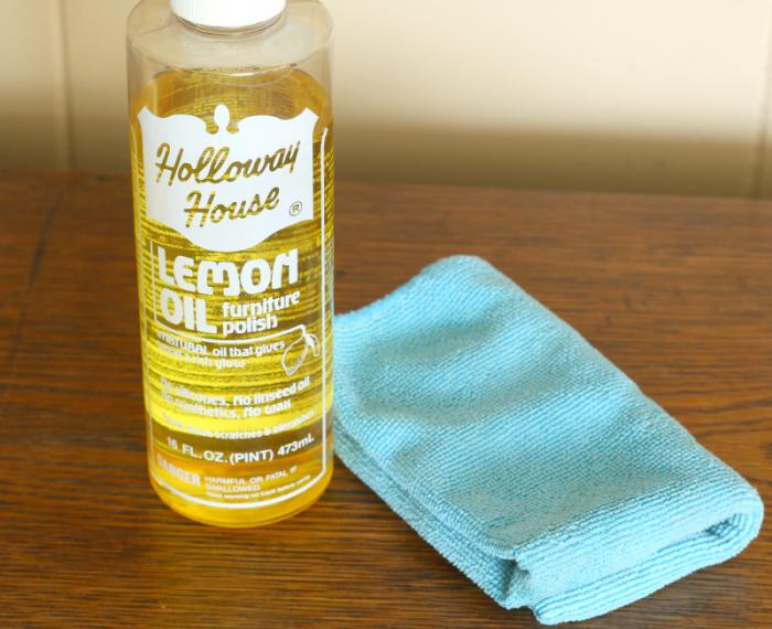 Holloway House Lemon Oil and microfiber cloth