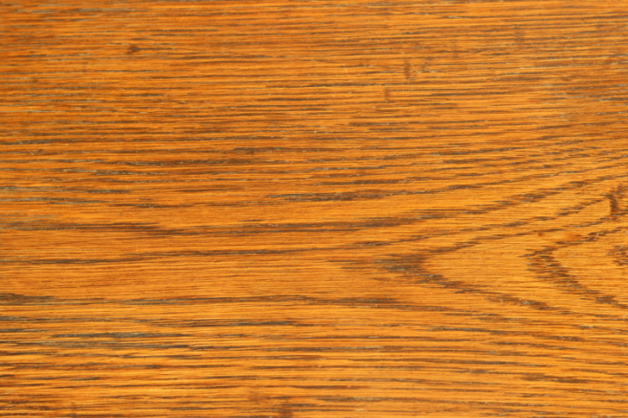The after - water stain gone from wood