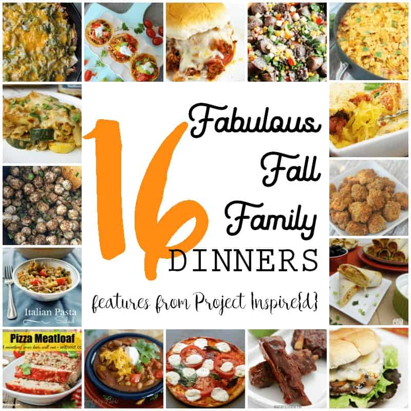 16 Fabulous Fall Family Dinners Features from Project Inspire{d}