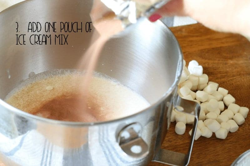 3. Add one pouch of Ice Cream Mix