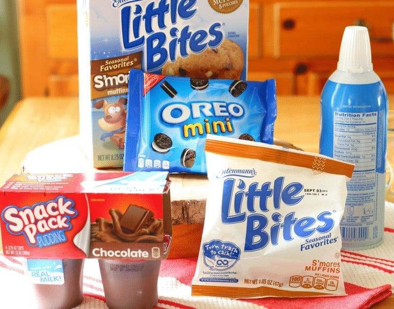 Chocolate S'mores Oreo Parfait - after school snack ideas from cupcakesandcrinoline.com