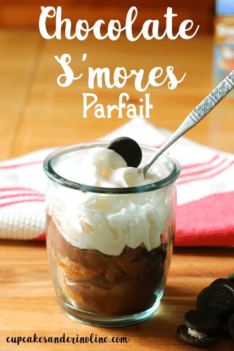 Chocolate S'mores parfait at cupcakesandcrinoline.com
