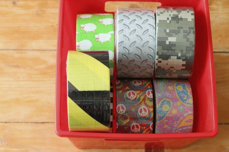 Multiple Rolls of Duck Tape patterns