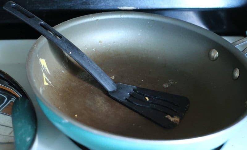 Non-stick cookware before