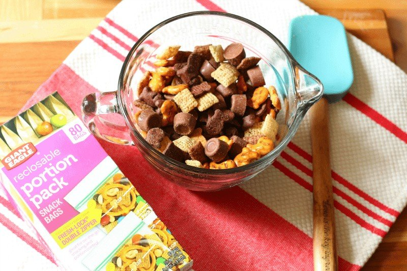 Sweet, Salty and Chocolate Snack Mix from cupcakesandcrinoline.com
