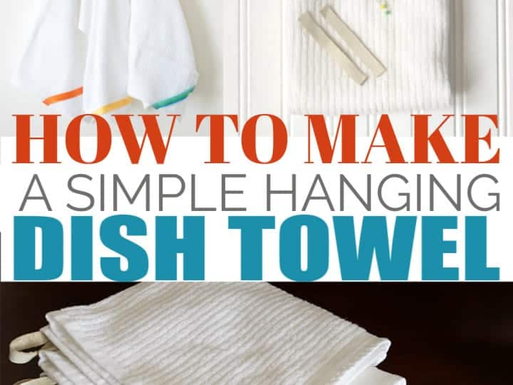 How To Make A Simple Hanging Dish Towel