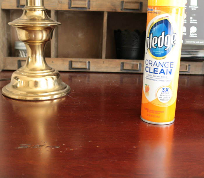 Pledge Orange Clean - before