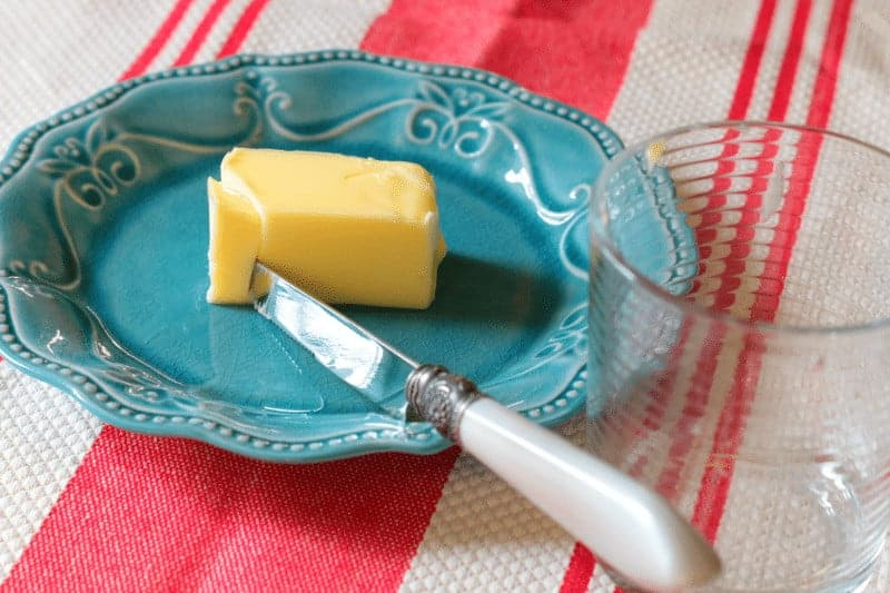 Soften butter quickly - slice it up!