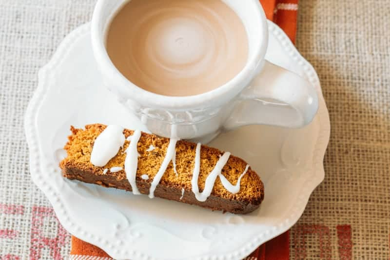 Pumpkin Biscotti made from a quick bread and muffin mix - get the recipe at www.cupcakesandcrinoline.com