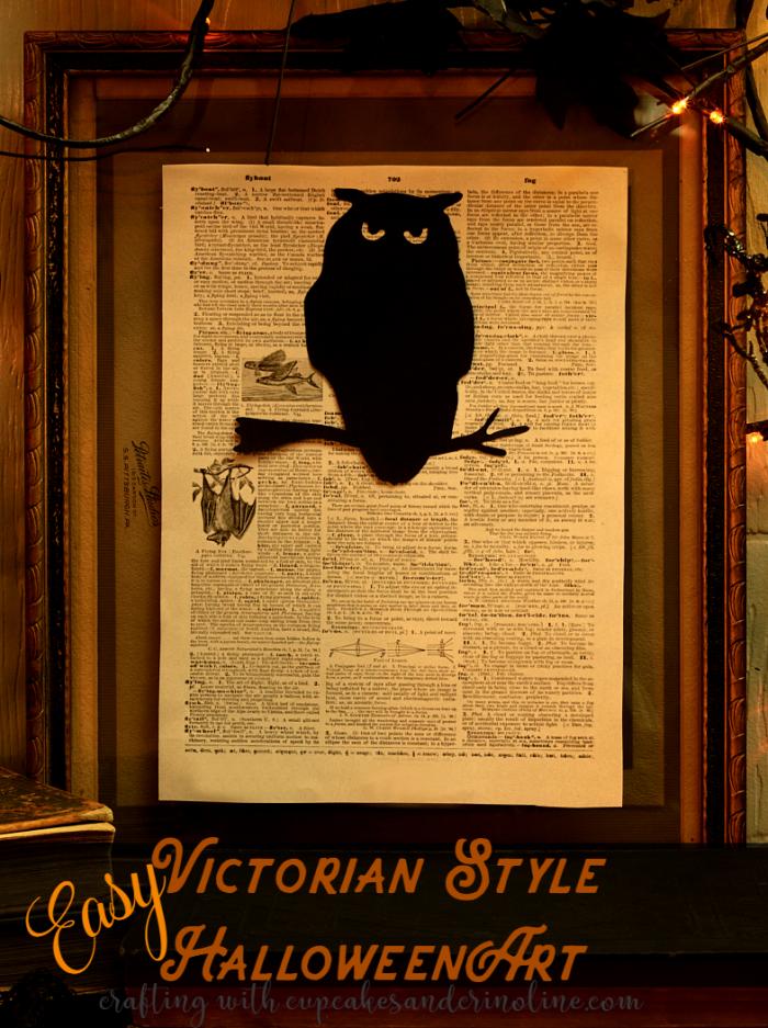 Easy Victorian-Style Halloween Art tutorial - 2 minutes from start to finish. www.cupcakesandcrinoline.com