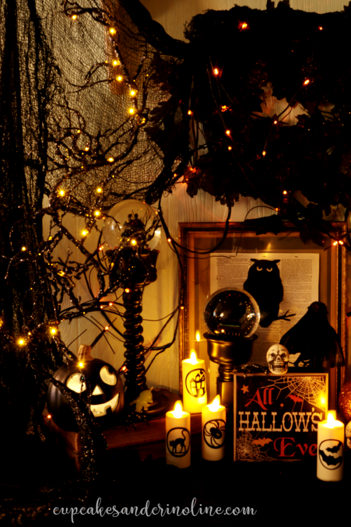 Halloween Decor - glitter, glamour and sparkle