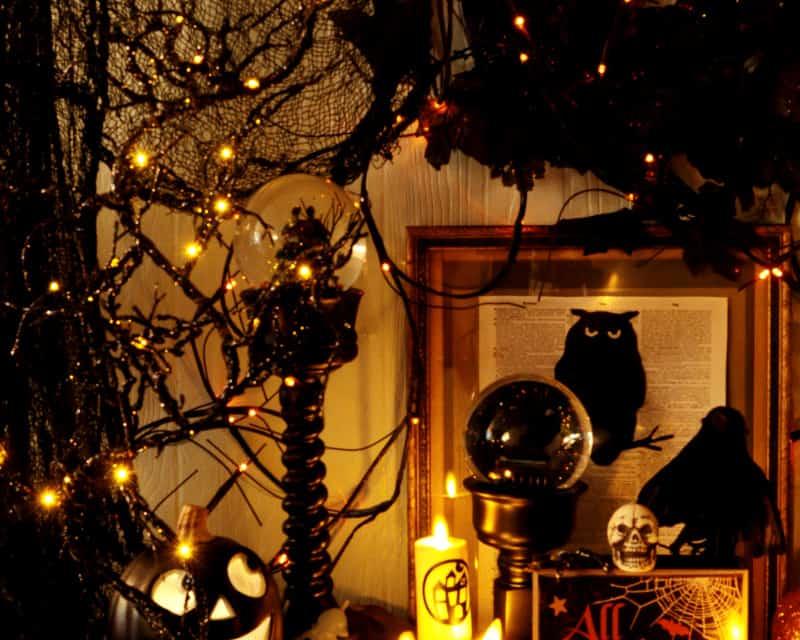 Sparkle and Glitter Halloween Decor