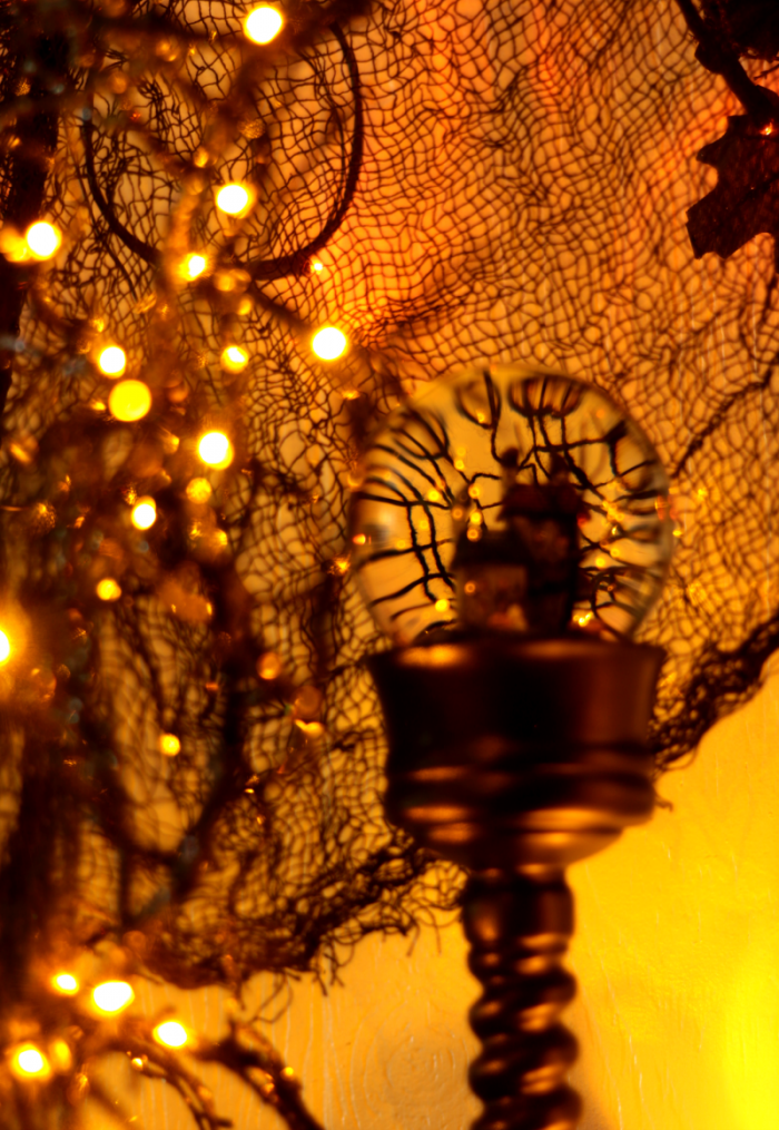 Halloween Decor Close Up of Halloween Water Globe from Balsam Hill