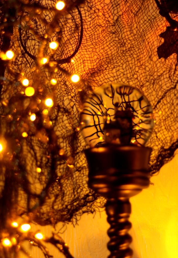 Halloween Decor Close Up of Halloween Water Globe from Balsam Hill