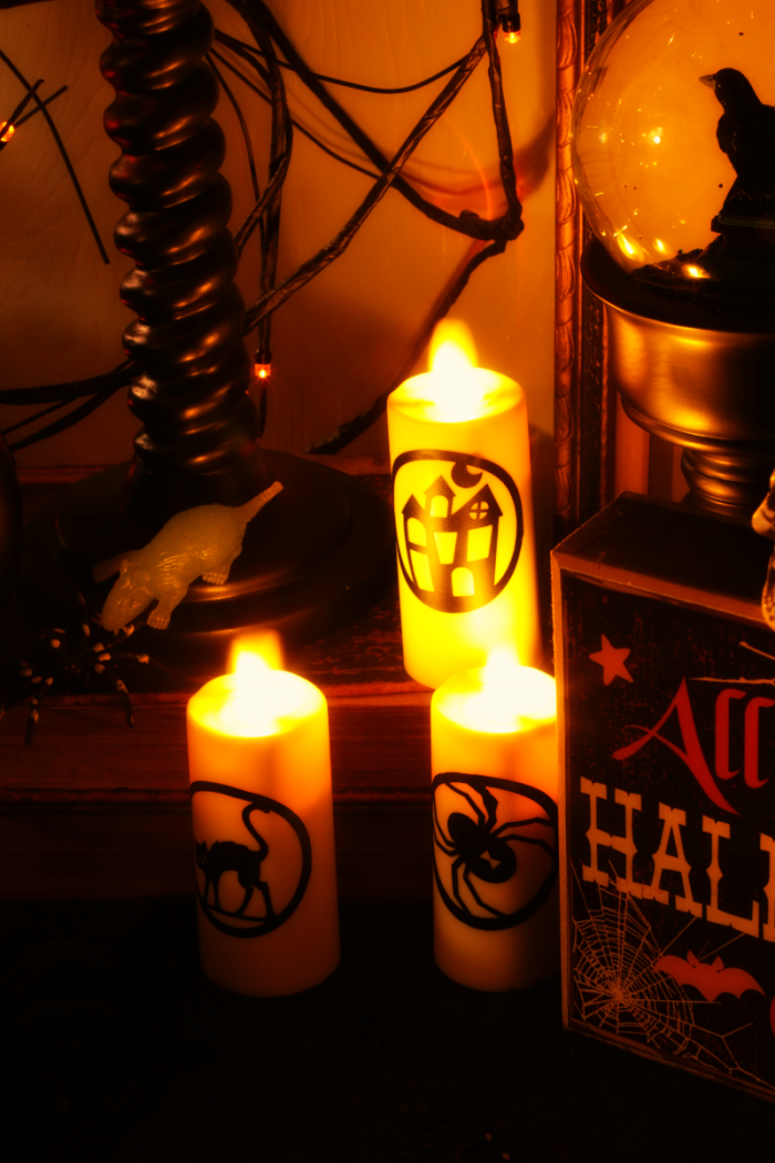 Halloween Flicker Candles and Orange LED lights