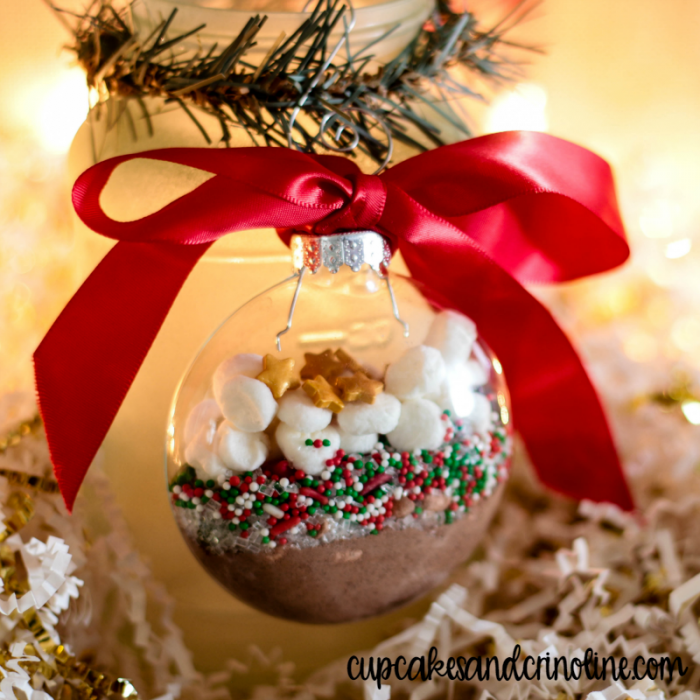 Hot Cocoa Mix Ornaments and Gift Tags - www.cupcakesandcrinoline.com