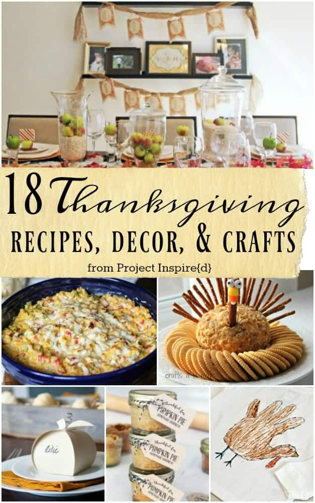 Thanksgiving Recipes, Decor and Crafts from Project Inspired