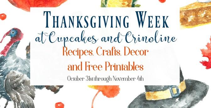 Thanksgiving Week at Cupcakes and Crinoline