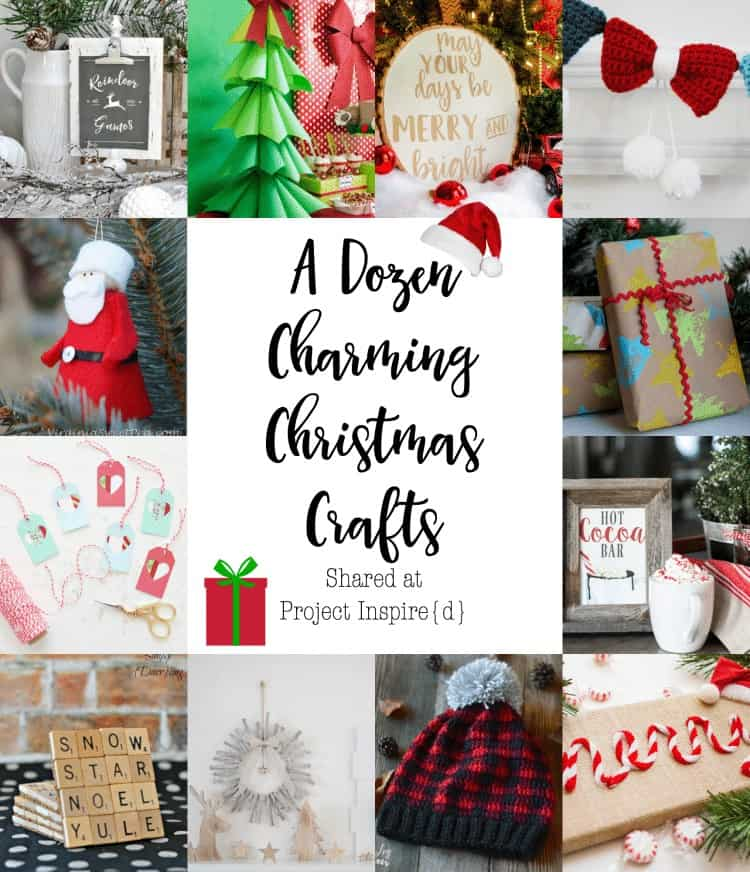 12 Charming Christmas Crafts from Project Inspired - www.cupcakesandcrinoline.com