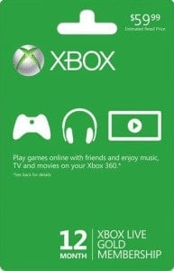 XBox Live Yearly Subscription