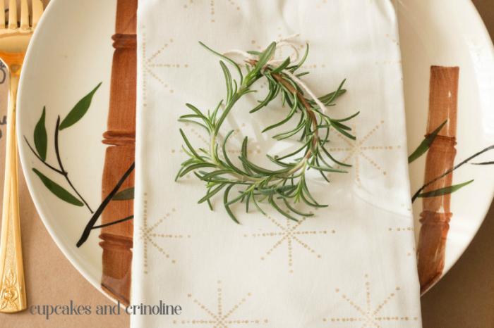 Rosemary Sprig Mini Wreath